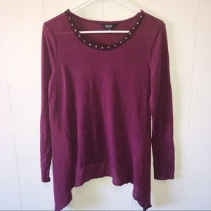Simply Vera Vera Wang Plum Purple Blouse
